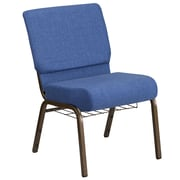 HERCULES Series 21'' Wide Fabric Church Chair with 4'' Thick Seat, Book Rack