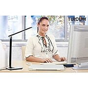 Mount-It! Turcom Dimmable LED Desk Lamp with USB Ports for Chargers (TS-7005)