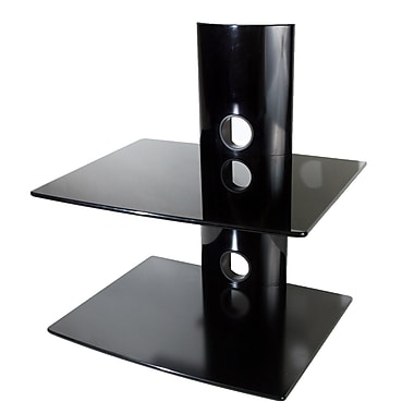 Mount-It! Premium Series Component Wall Mount Shelf with Strengthened Tempered Glass