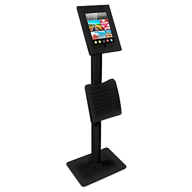 Mount-It! iPad Tablet Floor Stand Mount with Catalog Holder (MI-3770B)