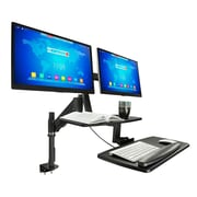 Mount-It! HeIght-Adjustable SIt to Stand WorkstatIon, Dual MonItors (MI-7902)