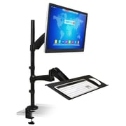 Mount-It! Sit-Stand Desk Mount Workstation, Monitor, Laptop, and Keyboard Mount (Mi-7921)