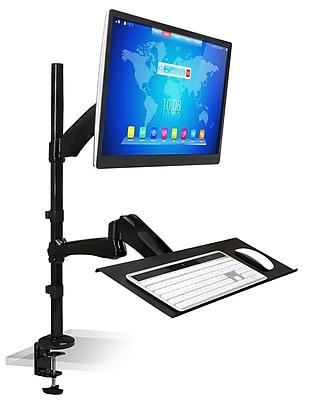Mount-It! Standing Desk Converter, Tall Stand-Up Single Monitor Mount Workstation, Height Adjustable Standing Desk (MI-7921)
