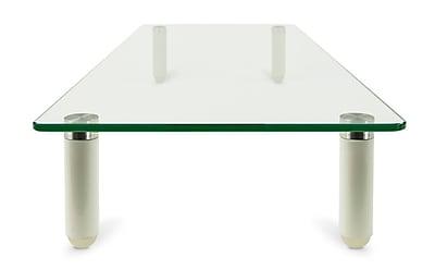 Mount-It! Glass Monitor Stand Laptop Stand, Ergonomic Desk Riser and Organizer (Mi-7263)