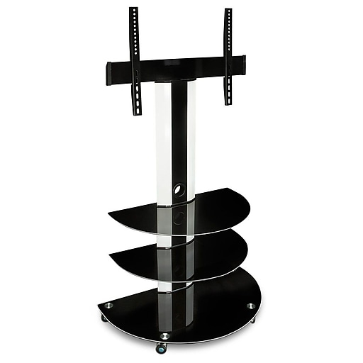"Mount-It! TV Cart Mobile TV Stand with 32""-60"" TV Mount and AV Shelves (MI-873)"