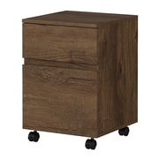 Bush Furniture Latitude 2 Drawer Mobile File Cabinet, Rustic Brown Embossed (LAF116RB-03)