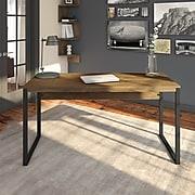 Bush Furniture Latitude 60W Writing Desk, Rustic Brown Embossed (LAD160RB-03)