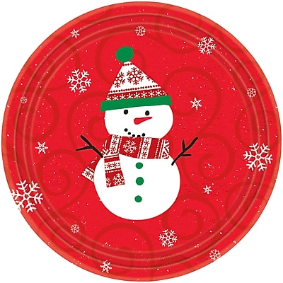 Amscan Very Merry Paper Plate, 7