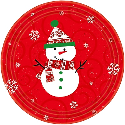 """""Amscan Very Merry Paper Plate, 9"""""""" x 9"""""""", 8/Pack, 10 Per Pack (658507)"""""" 2581924"