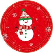 "Amscan Very Merry Paper Plate, 9"" x 9"", 8/Pack, 10 Per Pack (658507)"