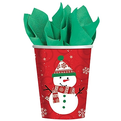 Amscan Very Merry Paper Cup, 9oz, 8/Pack, 8 Per Pack (588507) 2580188
