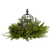 Nearly Natural Mixed Pine Birdhouse Candelabrum (4561)
