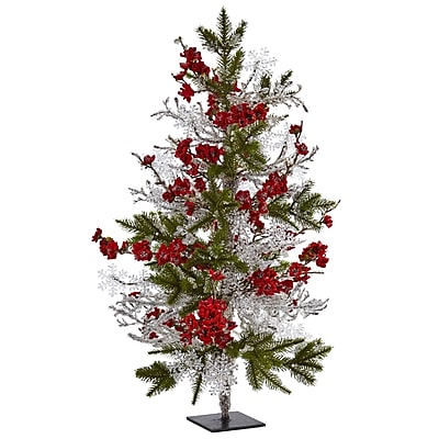 "Nearly Natural 26"" Plum Blossom Pine Ice Twig Tree (5478)"