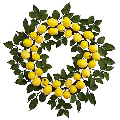 "Nearly Natural 24"" Lemon Wreath (4567)"
