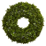 "Nearly Natural 22"" Boxwood Wreath (4554)"