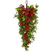 "Nearly Natural 26"" Berry Boxwood Teardrop (4562)"