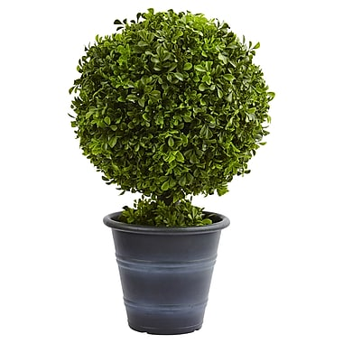 "Nearly Natural 23"" Boxwood Ball Topiary (4560)"