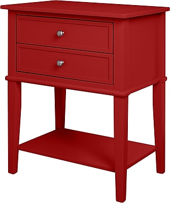 Ameriwood Home Franklin Accent Table with 2 Drawers, Red (5062296PCOM)