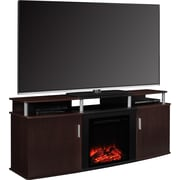 "Ameriwood Home Carson Electric Fireplace TV Console, Cherry, For TVs up to 70"" (1766196PCOM)"