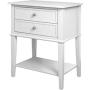 Ameriwood Home Franklin Accent Table with 2 Drawers, White (5062096PCOM)