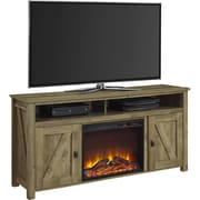"Ameriwood Home Farmington Electric Fireplace TV Console, Natural, For TVs up to 60"" (1795296COM)"