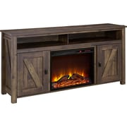 "Ameriwood Home Farmington Electric Fireplace TV Console, Rustic, For TVs up to 60"" (1795096COM)"