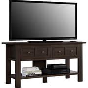 "Ameriwood Home Pillars Apothecary TV Stand, Cherry, For TVs up to 55"" (1225096PCOM)"