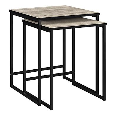 Ameriwood Home Stewart Nesting Tables, Distressed Gray Oak (5027196COM)
