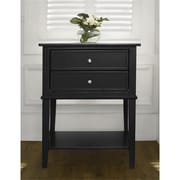 Ameriwood Home Franklin Accent Table with 2 Drawers, Black (5062596COM)