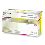 Tronex Latex Powder-Free, Fully Textured Examination Gloves,Polymer Coated, Medium (3166-20)