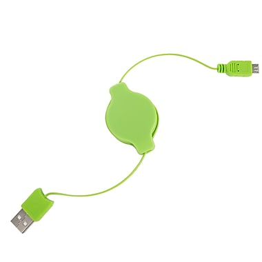 SumacLife Green Retractable USB Micro USB Sync and Charge Cable