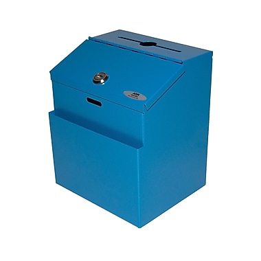 Adir Steel Suggestion Box Blue (631-01-BLU)