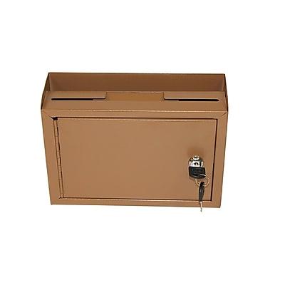 AdirOffice Coffee Brown Wall Mountable Suggestion Drop Box 9.75