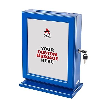 Adir Customizable Wood Suggestion Box, Blue (632-BLU)