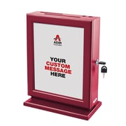 Adir Customizable Wood Suggestion Box-Yellow (632-RED)