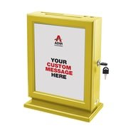 Adir Customizable Wood Suggestion Box, Yellow (632-YEL)