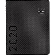 """2020 AT-A-GLANCE 8-1/4"""" x 11"""" Weekly/Monthly Planner Contemporary, Graphite (70-950X-45-20)"""