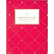 "2020 8-1/2"" x 11"" Monthly Planner, Simplified Pink Pineapple by Emily Ley (EL300-091-20)"
