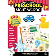 Words to Know Sight Words by Brighter Child, Grade Preschool, Paperback (705233)