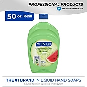 Softsoap Hand Soap with Moisturizers, Crisp Cucumber Melon, Refill, 50 oz (US05260A)