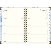 "2020 Lillian Farag 5-1/2"" x 8-1/2"" Weekly/Monthly Hardcover Planner, Water Lilies (6326-200-20)"