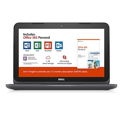 "Dell 11.6"" Inspiron 11 3000 Series Laptop (I3180A361GRY)"