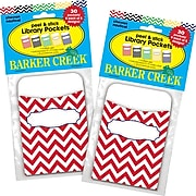 Barker Creek Chevron Nautical Peel & Stick Library Pockets, Multi-Design Set, 60/Set (BC3837)