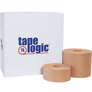 Tape Logic® #7000 Reinforced Water Activated Tape, 70mm x 450', Kraft, 10/Case