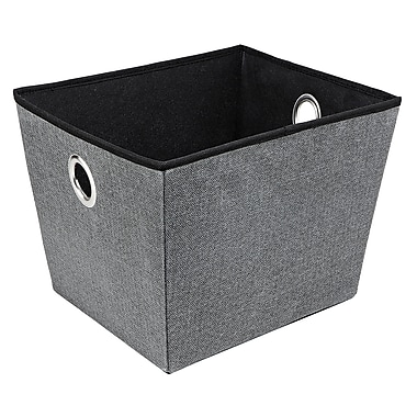 Simplify Large Grommet Storage Bin in Grey