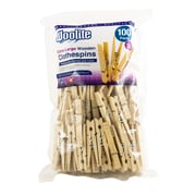 Woolite Extra Large Wooden Clothespins, 100 Pack (W-82646)