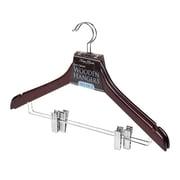 Simplify 2 Pack Mahogany Suit Hangers
