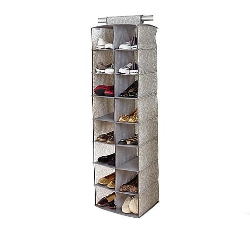 Laura Ashley Shoe Organizer, 16 Shelf (LA-95611)
