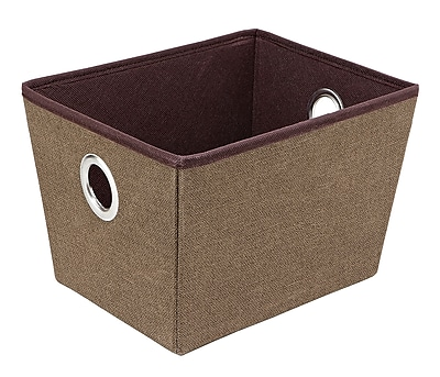 Simplify Medium Grommet Storage Bin in Espresso