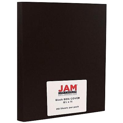 JAM Paper Matte Cardstock, 8.5 x 11, 80lb Black Smooth, 80lb, 250/ream (64429575b) 2633234